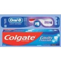 Colgate or Crest Toothpaste, Colgate or Oral-B Toothbrush or Oral-B Floss