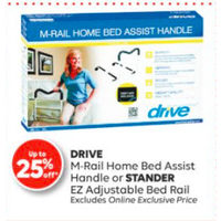 Drive M-Rail Home Bed Assist Handle Or Stander EZ Adjustable Bed Rail