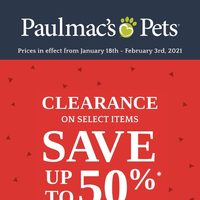 Pet Valu - Paulmac's Pets - Clearance Sale Flyer