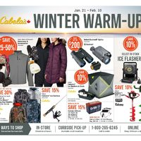 Cabelas - Winter Warm-Up Sale Flyer