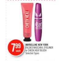 Maybelline New York Falsies Mascara, Eyeliner Or Cheek Heat Blush