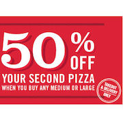 Buy One Pizza and Get One 50% off