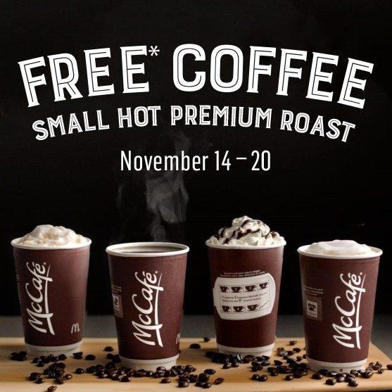 Small Mccafé Hot Premium Roast Coffee