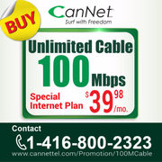 Get $20.00 Off On Unlimited 100M Cable Internet