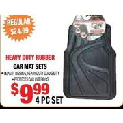 Heavy Duty Rubber Car Mat Sets - $9.99