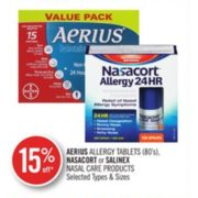 15% Off Aerius Allergy Tablets