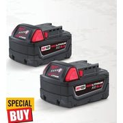 Milwaukee M18 Redlithium XC5.0 Batteries - $158.00