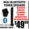 Akai Bluetooth Tower Speaker - $49.99