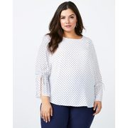 Bell Sleeve Printed Blouse - In Every Story - $24.99 ($25.00 Off)