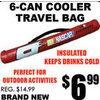 6-Can Cooler Travel Bag - $6.99
