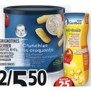 Gerber Snacks, Biscuits  - 2/$5.50