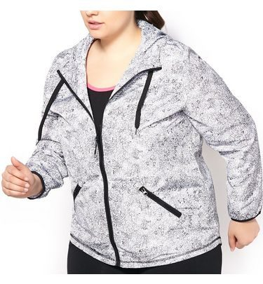 72a9b15336a Golf Town Active Zone Women s Plus Size Graphic Print Long Sleeve Full Zip  Wind Jacket -  41.87 ( 43.13 Off) Active Zone Women s Plus Size Graphic  Print ...