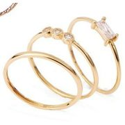 10kt Gold Stacking Rings - $99.99