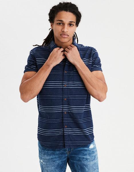 a2f66614 American Eagle AE Seriously Soft Oxford Button Down Shirt - $18.53 ($27.79  Off) AE Seriously Soft Oxford Button Down Shirt