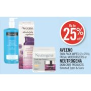 Up to 25% Off Aveeno Twin Pack Wipes or Facial Moisturizers
