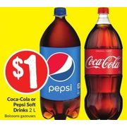Coca-Cola Or Pepsi Soft Drinks - $1.00