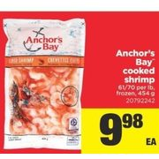 Anchor's Bay Cooked Shrimp - $9.98