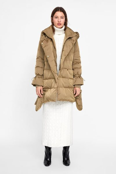 bd578c52 Zara Down Coat With Wrap Collar - $59.99 ($40.00 Off) Down Coat With Wrap  Collar
