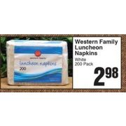 Western Family Luncheon Napkins White - $2.98
