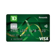 TD® Rewards Visa* Card: Earn up to 10,000 TD Rewards Points