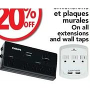 All Extensions and Wall Taps - 20% off