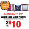 Double Sided Sequin Pillows - 2/$10.00