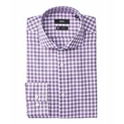 Boss - Slim Fit Checked Travel Dress Shirt - $156.99 ($68.01 Off)