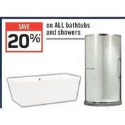All Bathtubs And Showers - 20% off
