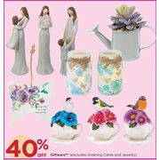 Giftware, Excludes Greeting Cards And Jewelry - 40% off
