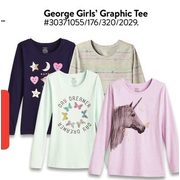 George Girls' Graphic Tee - 3/$12.00