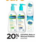Cetaphil Baby Or Skincare Products - 20% off