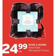 Rose & Robin Reversible Microplush Throw - $24.99