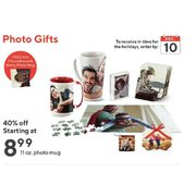 Photo Gifts - 11 Oz. Photo Mug - Starting at $8.99 (40% off)