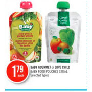 Baby Gourmet Or Love Child Baby Food Pouches - $1.79